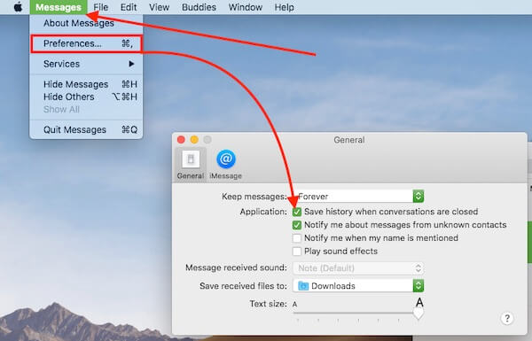 7 Auto save Conversations after close on Messages app on Mac