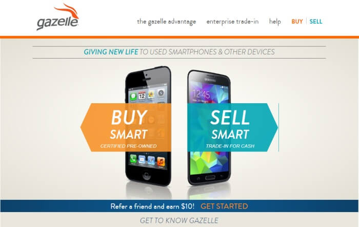 Gazelle places to buy refurbished iPhone