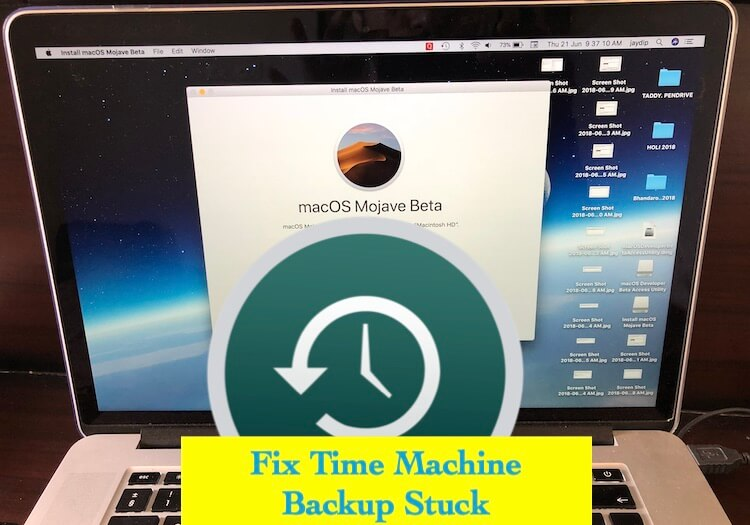 1 Fix Time Machine Backup Stuck and in Progress