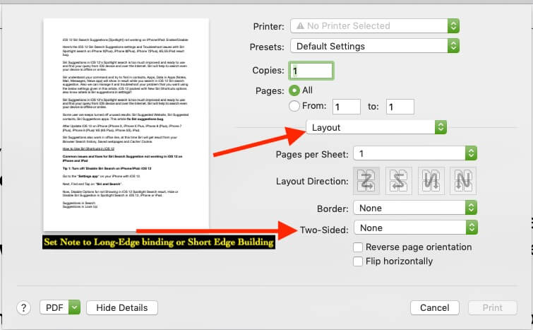 2 Print Double Sided on Mac on PDF