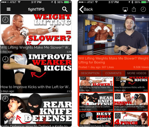 4 fightTIPS Self Defense iPhone apps