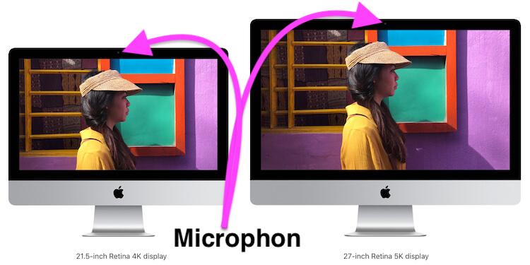 Microphone location on Mac Display