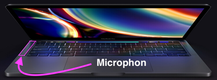 Microphone location on MacBook Pro or Air