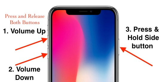 Hard Reboot or Force Restart iPhone XS Max