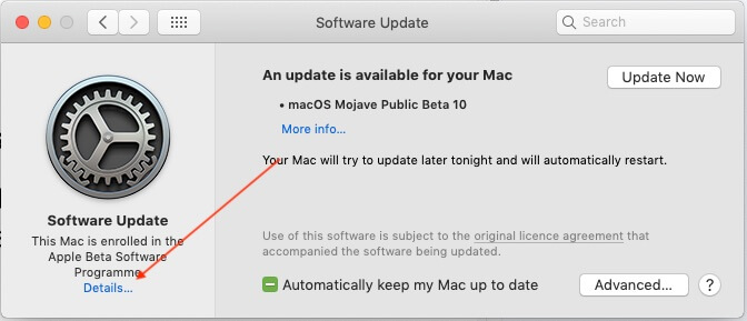 1 Install Final Version of MacOS Mojave from Public Beta