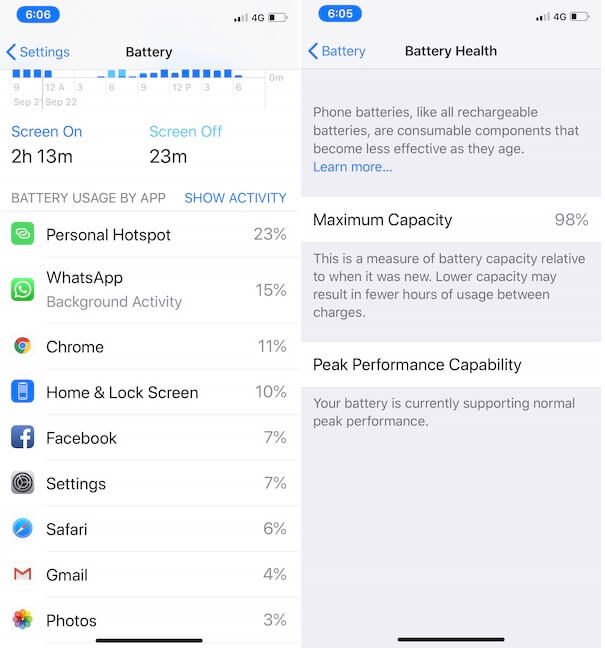 3 Battery Report in Last 24 hours or 10 days