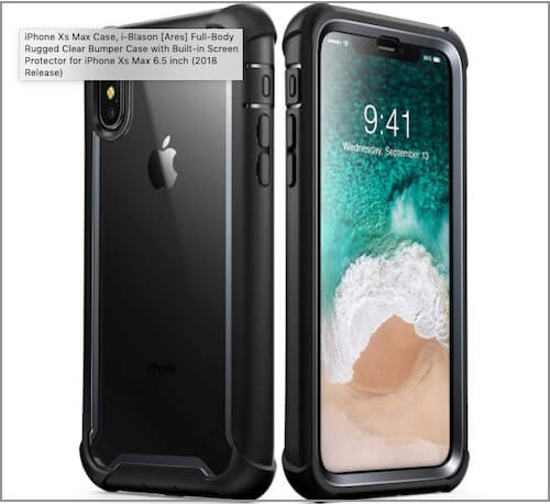 iPhone XS Max Bumper Cases of i-Balson Clear Bumper Case for iPhone XS Max