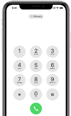 Switch phone numbers for a call