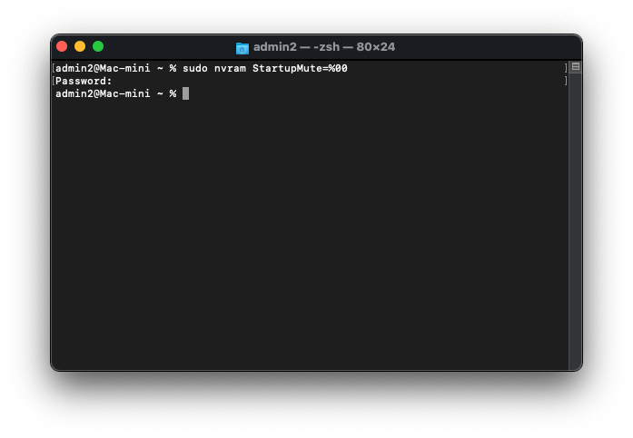 Turn on Startup sound Command for Terminal on MacBook Mac