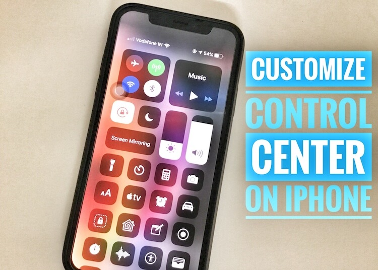 1 Customize Control center on iPhone XR