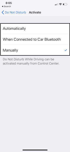 3 Disable Auto enable Do not Disturb on iPhone XS max