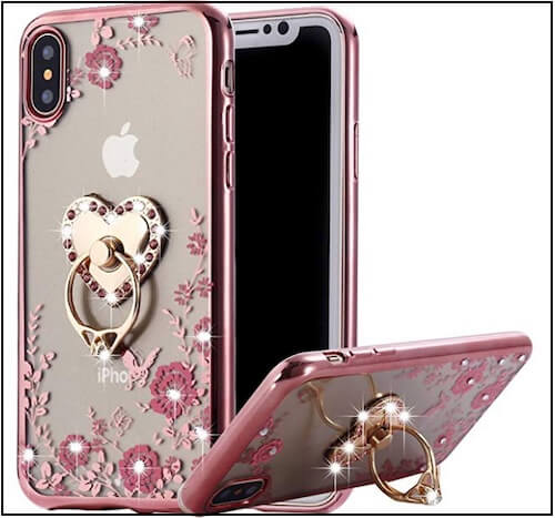 4 Protective Bumper Luxury ring holder iPhone XS Max