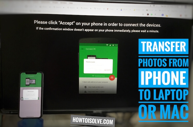 4 Transfer photos from iPhone XS max to Laptop or Mac Browser