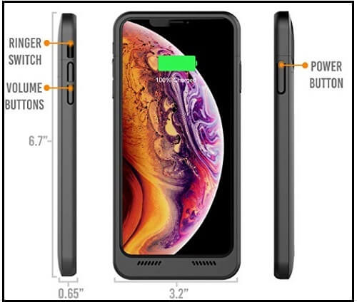 Alpatronix battery case for iPhone XS Max