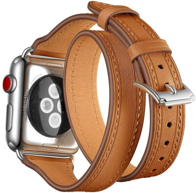 MaxJoy Leather Loop Band for Apple Watch