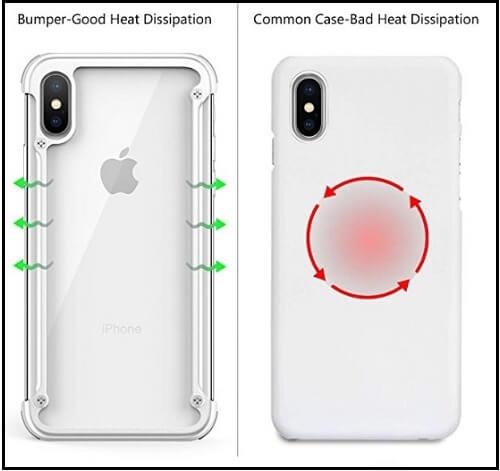 OATSBASF rugged iPhone XS Metal bumper Case