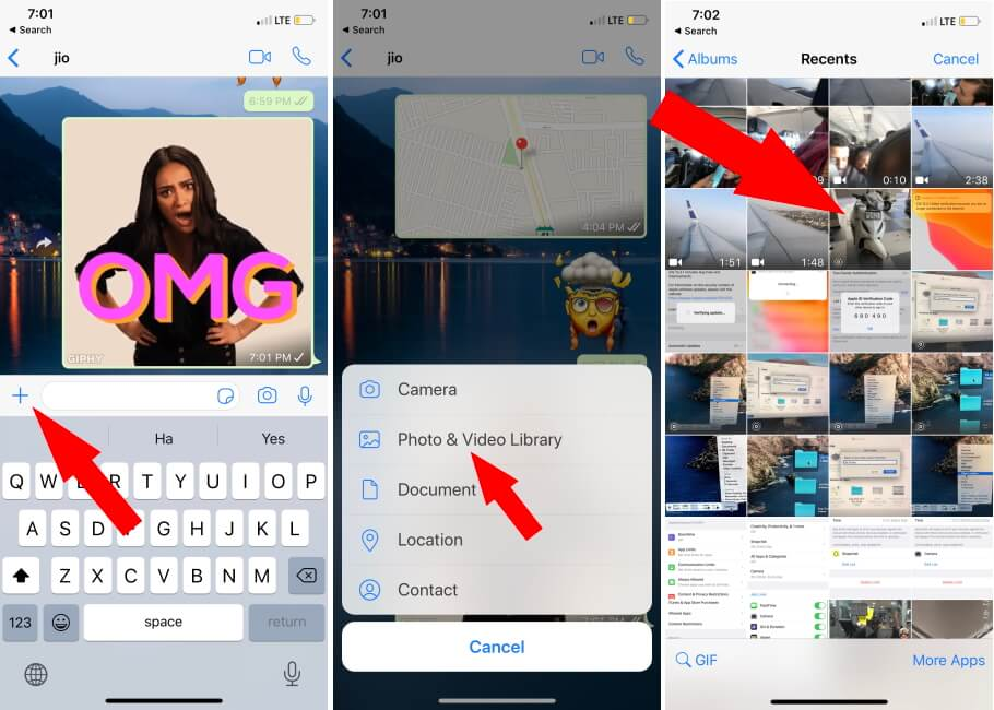 Send live Photo as a GIF on WhatsApp iPhone app (2)