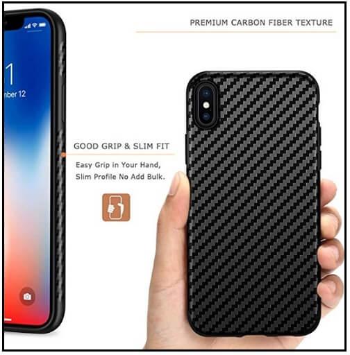 Tasikar's carbon fiber case for iPhone XS Max