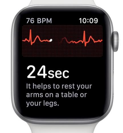 get pulse count on Apple Watch 4 using ECG