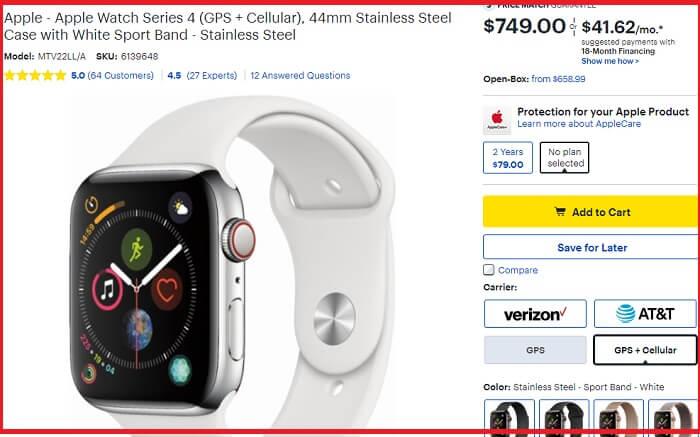 Best Buy Apple watch Series 4 Deals on BF 2018