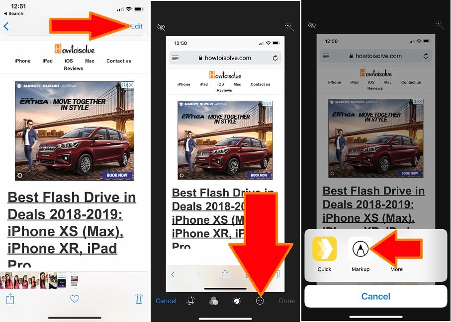 1 Use markup Tool on iPhone in Edit mode