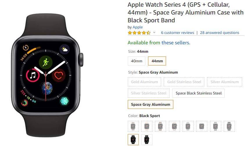 Amazon Apple Watch 4 deals on Black Friday 2018