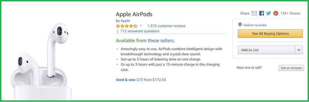 Amazon AirPods Deals on Black Friday