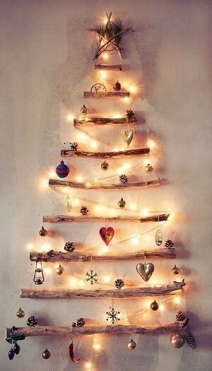 Artificial Christmas Tree Wallpaper for iPhone