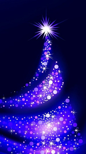 Blue Christmas Tree Wallpaper for iPhone XS max iPhone XS and iPhone XR