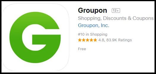Groupon Shopping app for iPhone