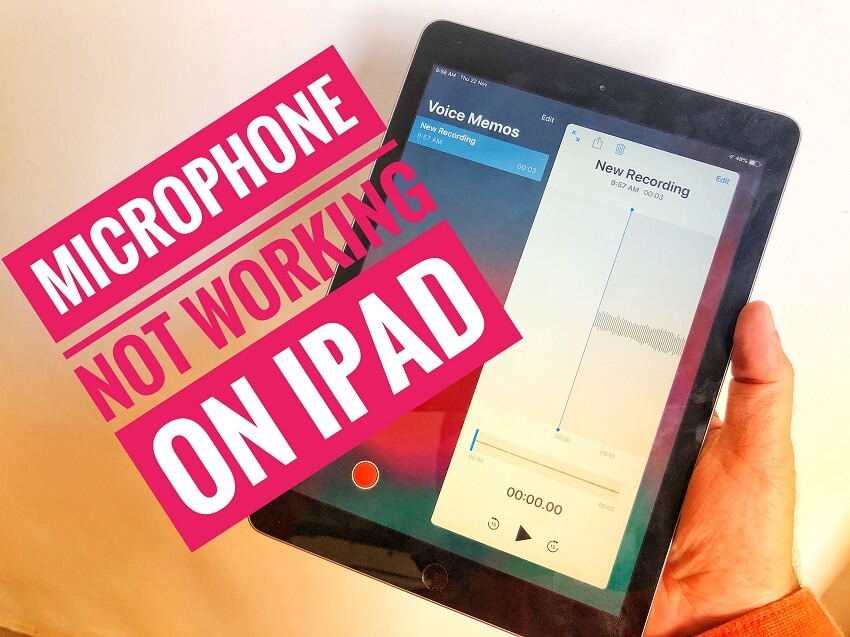 Microphone not working on iPad fixed