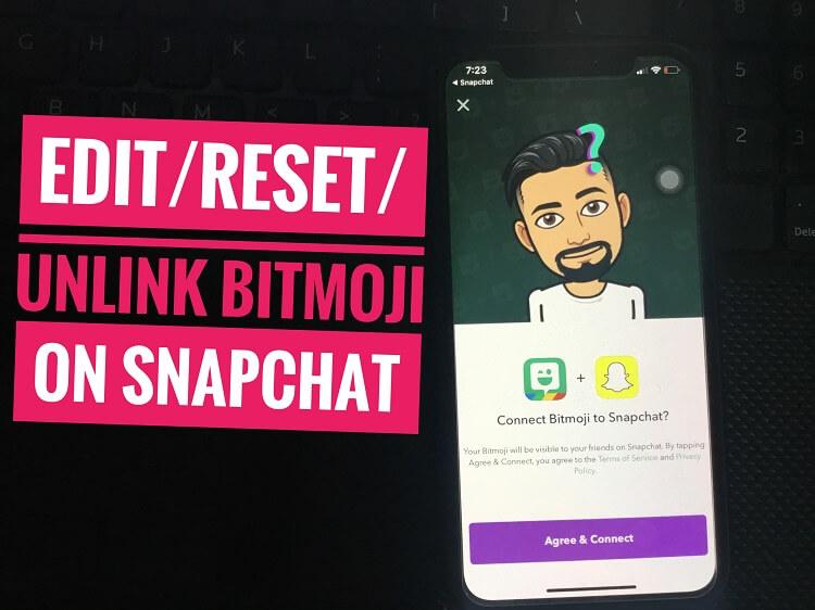 Reset Snapchat Bitmoji on iPhone (1)