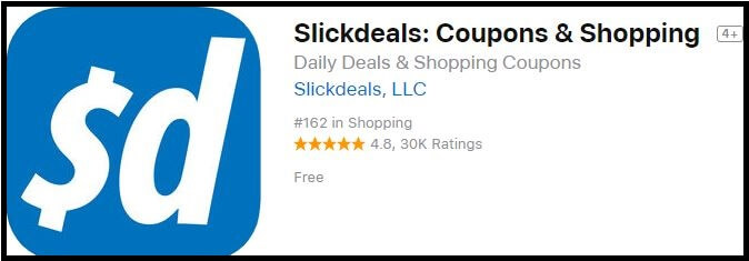 slickdeals Shopping app for iPhone