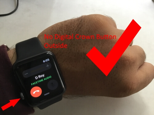 Digital Crown button on left hand Orientation of apple watch