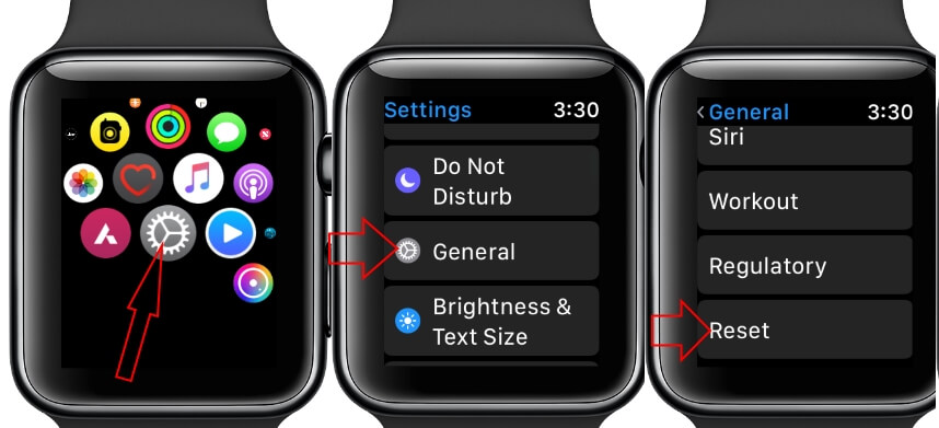 Erase All Content and Settings on Apple Watch without apple ID
