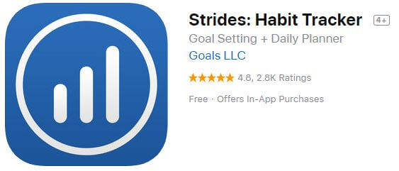 Strides habit tracking iOS app