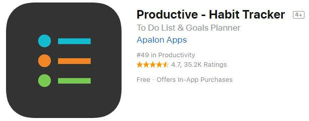 productive habit tracking apps for iPhone and iPad