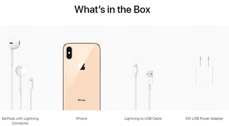 what is in the box in iPhone XS Max unlocked Deals USA