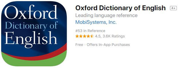 oxford Offline dictionary-of-english for iPhone