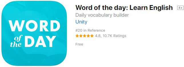 word-of-the-day-learn-english offline app for iPhone