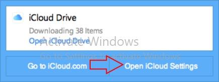 Open icloud settings on windows 10