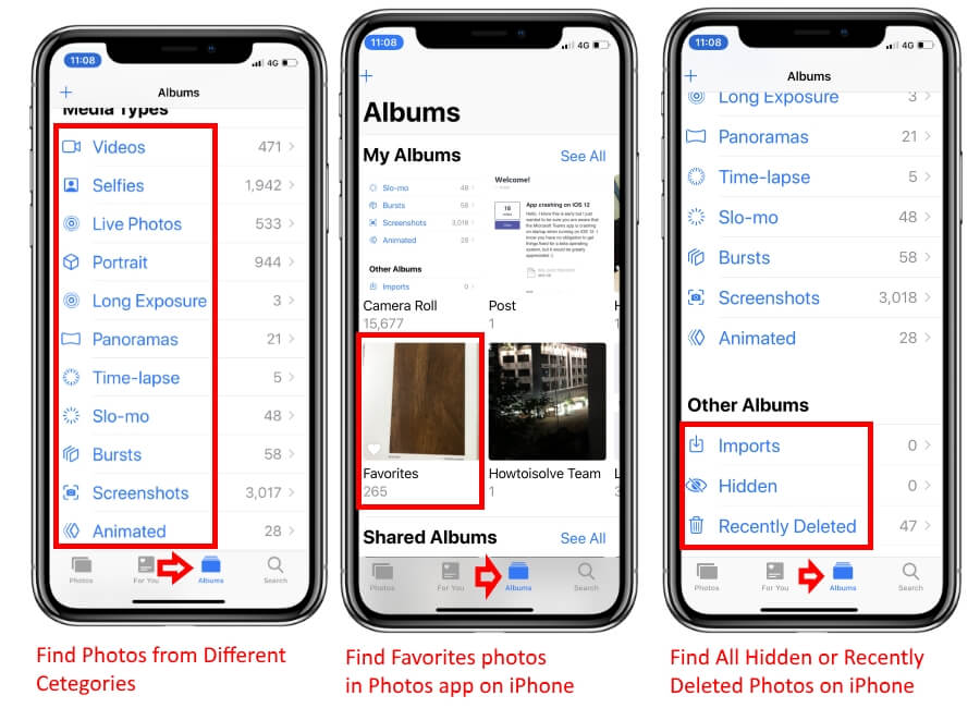 Where to Find Pictures Taken on iPhone XS Max
