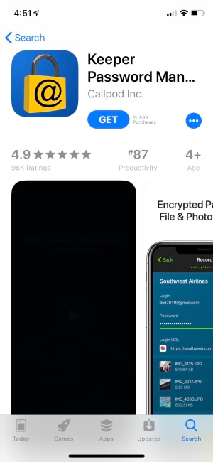 Keeper Password Manager apps