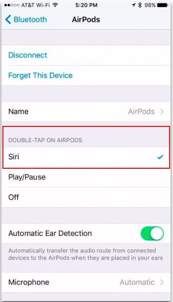 Enable Double tap Siri on Airpods on iPhone