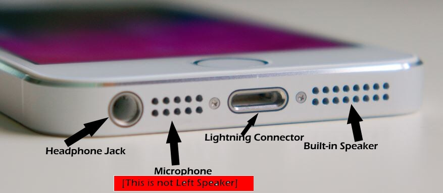 iPhone SE Left Speaker Not working