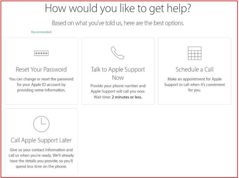 Apple Support online