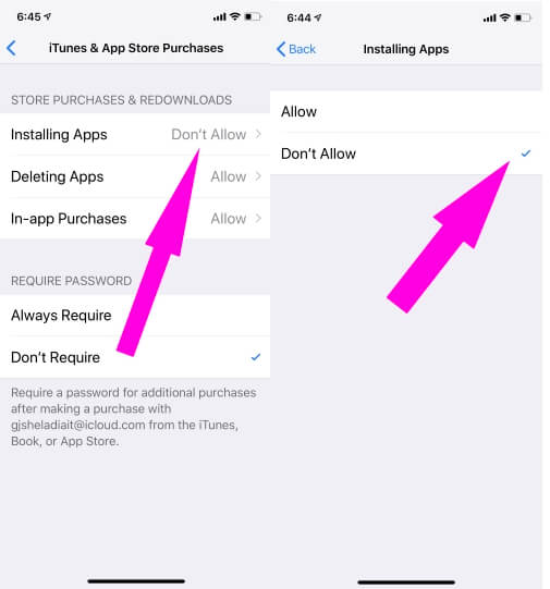 Don't allow to install new app on iphone