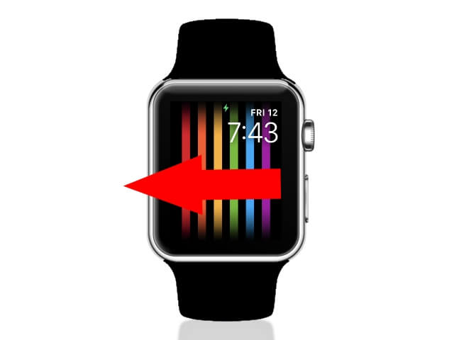 Swipe Face to change Vertical line screen on apple watch