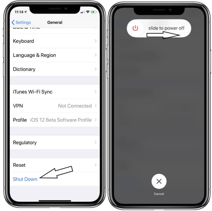 iPhone XS max iphone XS and iPhone XR Turn off screen from settings