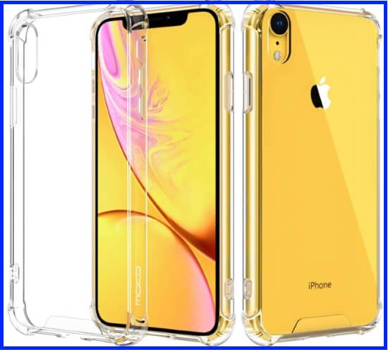 Crystal Clear Moko case for iPhone XR